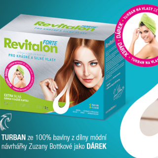 Revitalon Forte + turban na vlasy 71g